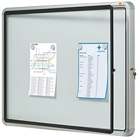 Nobo Outdoor Noticeboard with Lockable Glazed Case, 6xA4, W692xH752xD45mm