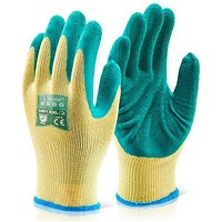 Click 2000 Multi Purpose Latex Glove, Small, Green, Pack of 100