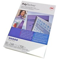 GBC PolyCovers Techno Binding Covers, 700 micron, Ice White, A4, Pack of 50