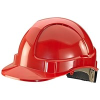 B-Brand Wheel Ratchet Vented Safety Helmet - Red