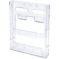Literature Holder, Connectable, Modular, Wall-Mountable, A4, Clear