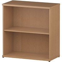 Trexus Low Bookcase, 1 Shelf, 800mm High, Oak
