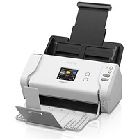 Brother ADS-2700W Desktop Document Scanner 35ppm/70ipm Wireless and USB White/Black Ref ADS2700WZU1