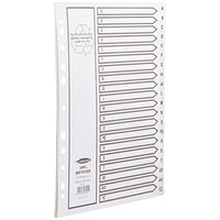 Concord Recycled Dividers / Printed / A-Z / A4 / White