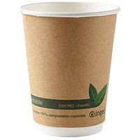 Dispo Kraft Paper Cups, 12oz, Double Wall, Pack of 25