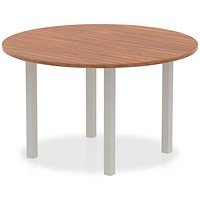 Trexus Round Meeting Table, 1200mm, Walnut