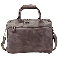 Pride and Soul Mystify Laptop Bag, 15 inch Capacity, Grey/Brown