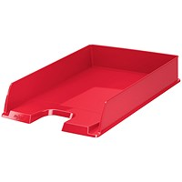 Rexel Choices Letter Tray, A4, Red