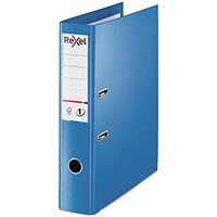 Rexel Choices Foolscap Lever Arch File, Plastic, 75mm Spine, Blue