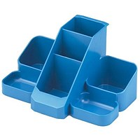 Avery Basics Desk Tidy with 7 Compartments - Blue