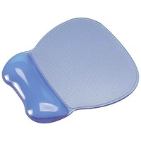 Mouse Mat Pad Wrist Rest, Non-Skid, Easy Clean, Soft Gel, Transparent Blue