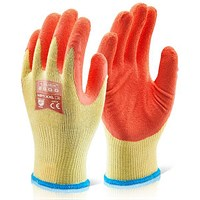 Click 2000 Multi-Purpose Gloves, Large, Orange, Pack of 100
