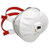 3M Mask P3V R Premium Adjustable Strap Respirator, White, Pack of 5
