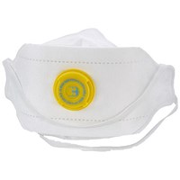 B-Brand P3 Premium Fold-flat Vented Mask, Adjustable, White, Pack of 20