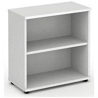 Trexus Low Bookcase, 1 Shelf, 800mm High, White