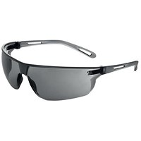 JSP Stealth Safety Spectacles, Ultra Thin Lenses, Smoke
