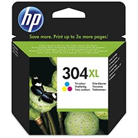 HP 304XL High Yield Tri-Colou Ink Cartridge