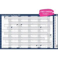 Sasco 2020 Oversized Year Planner, Unmounted, 1110x610mm