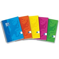 Oxford Soft Touch Wirebound Notebook, A5, Assorted Colours, Pack of 5