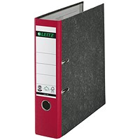 Leitz A4 Lever Arch Files, 80mm Spine, Red, Pack of 10