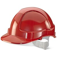 B-Brand Economy Vented Safety Helmet - Red