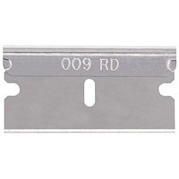 Pacific Handy Cutter Single Edge Blade, 0.009 inch Thick, Silver, Pack of 100