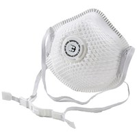 B-Brand P1 Vented Mesh Cup Mask, Soft Foam Nose Seal, White, Pack of 10