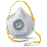 Moldex FFP3V Half Mask ActivForm Seal and DuraMesh Shell, White, Pack of 10
