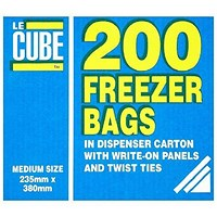 LeCube Freezer Bags, Medium, Pack of 200