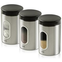 Addis Stainless Steel Airtight Windowed Canisters