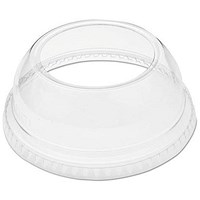 Domed Cup Lid, Top Hole, Clear, Pack of 100