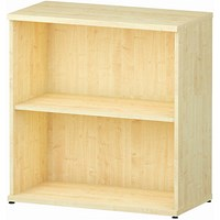 Trexus Low Bookcase, 1 Shelf, 800mm High, Maple
