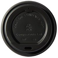 Dispo Kraft Hot Cup Plastic Lids for 12oz cups - Pack of 50