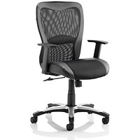 Trexus Victor II Mesh and Leather Executive Chair, Black