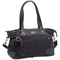 Pride and Soul Heaven Handbag with Secure Zip Closure - Black