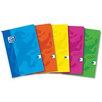 Oxford Soft Touch Headbound Refill Pad, A4, Ruled with Margin, 4 Holes, 120 Pages, Assorted Colours, Pack of 5