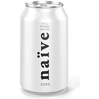Naive Still Natural Spring Water - 24 x 330ml Cans