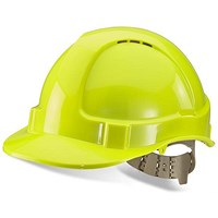 B-Brand Comfort Vented Safety Helmet - Yellow