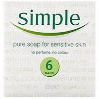 Simple Sensitive Skin Soap, Perfume-free, Pack of 6