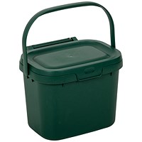 Addis Kitchen Caddy, Locking Lid, 5 Litre, Green
