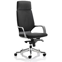 Adroit Xenon Executive Chair, Black on Black