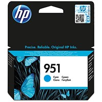 HP 951 Cyan Inkjet Cartridge