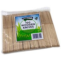 Robinson Young Natural Birchwood Knives - Pack of 100