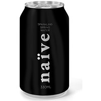 Naive Sparkling Natural Spring Water - 24 x 330ml Cans