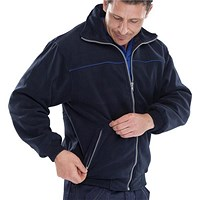 Click Workwear Endeavour Fleece with Full Zip Front, Small, Navy Blue