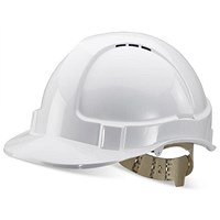 B-Brand Comfort Vented Safety Helmet - White