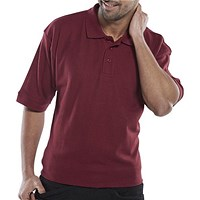 Click Workwear Polo Shirt, Large, Burgundy