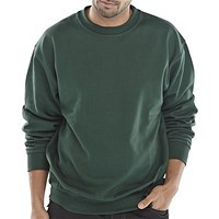 Click Workwear Sweatshirt, Polycotton, Medium, Bottle Green