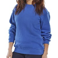 Click Workwear Sweatshirt Polycotton, Large, Royal Blue