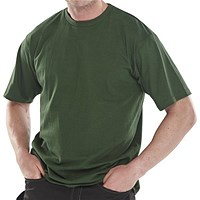 Click Workwear T-Shirt, Heavyweight, Extra Large, Bottle Green